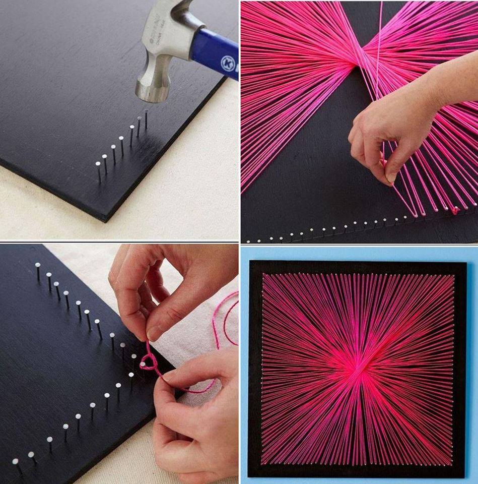 Inexpensive diy wall decor ideas and crafts for Drawing decoration ideas