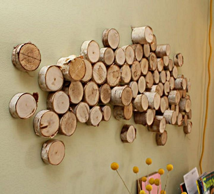 Decorate Your Yard S Wall With Some Wooden Items Fix Some Stem