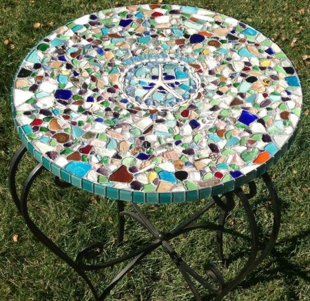 DIY mosaic outdoor  table