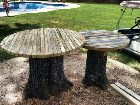 DIY outdoor table ideas