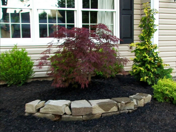 Diy easy landscaping ideas with low budget for Front lawn plant ideas