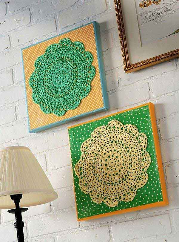 Inexpensive diy wall decor ideas and crafts for Art and craft for wall decoration