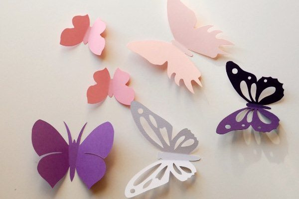 DIY Wall Decor With Paper Butterflies