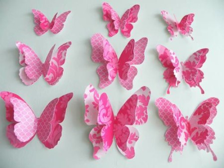 DIY wall decor with paper crafts
