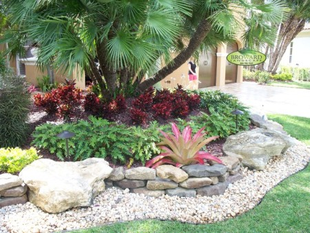 Easy landscaping with rocks