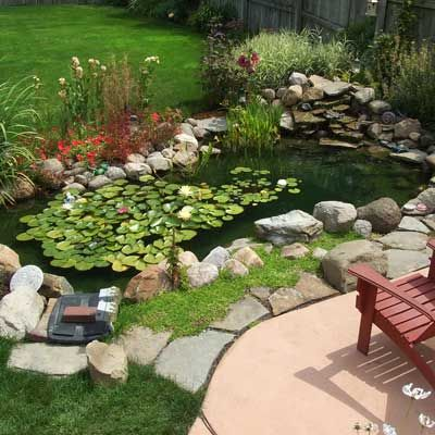 Easy pond landscaping ideas