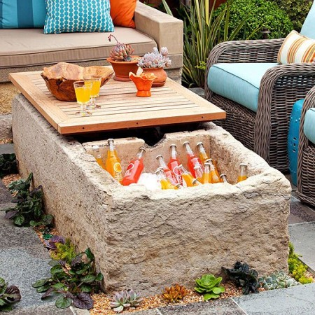 DIY storage outdoor tables