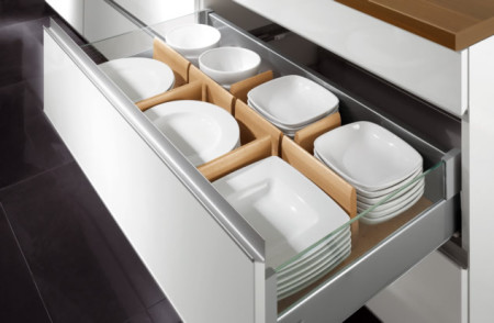 Contemporary kitchen storage solutions
