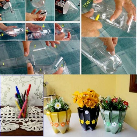 Diy recycled art projects for home decor for Diy recycled plastic bottles