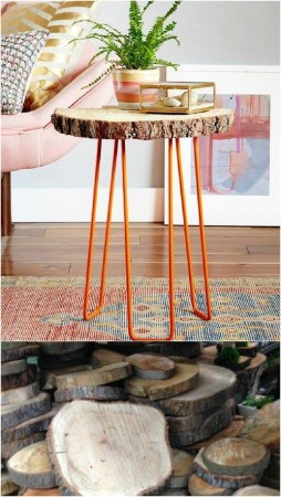 Handmade wooden tables DIY
