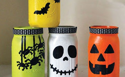 DIY Halloween Decorations from mason jars