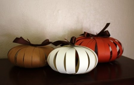 DIY Paper pumpkin decorations 2015