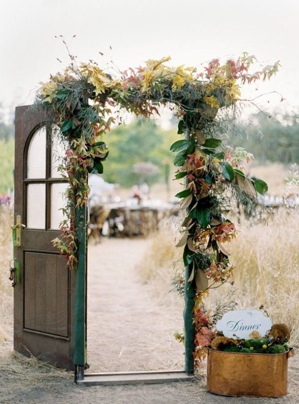 Diy vintage wedding ideas for summer and spring for Decorating for outdoor wedding