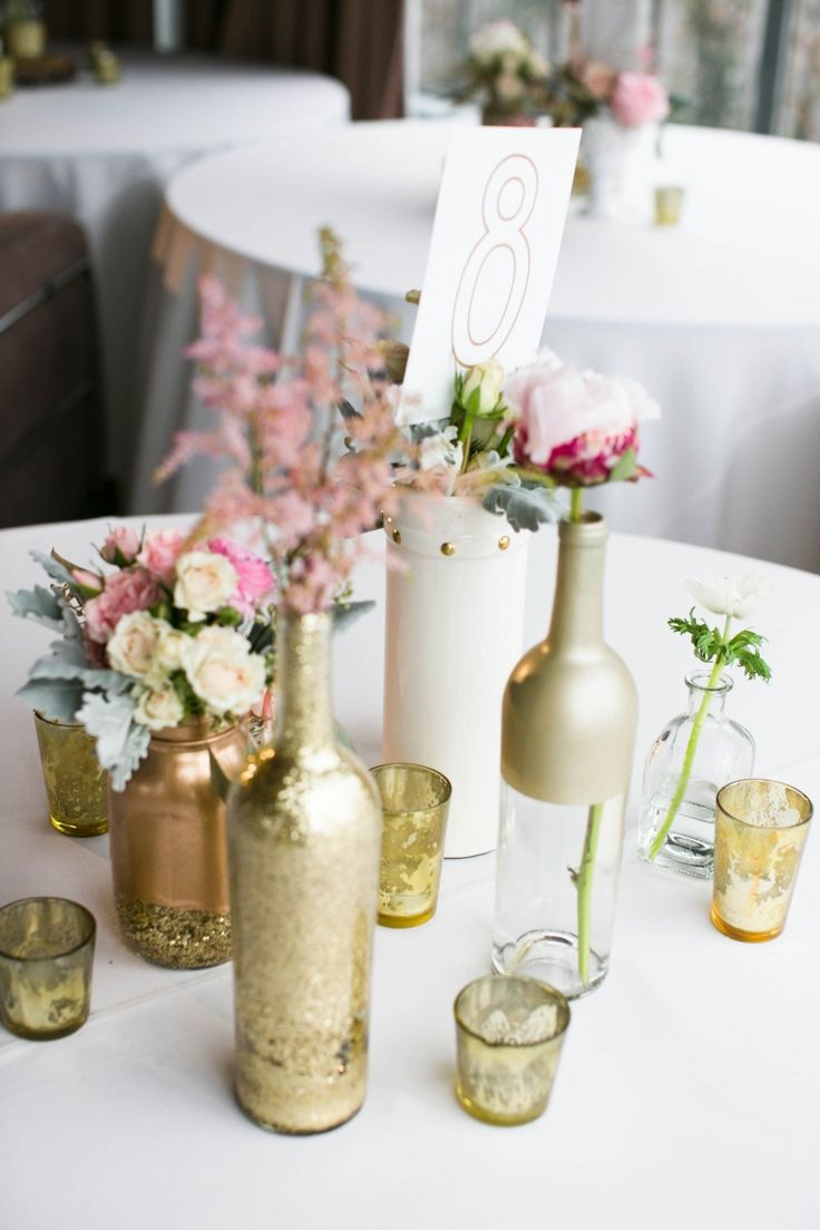 Diy vintage wedding ideas for summer and spring for Wedding table decoration ideas