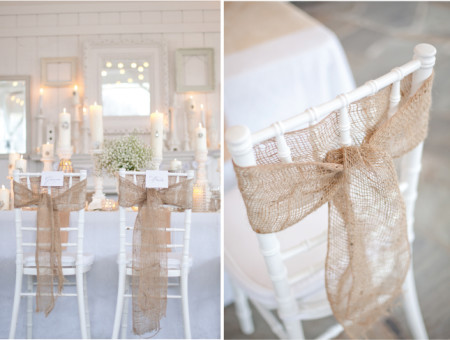 DIY Vintage wedding chair decoration