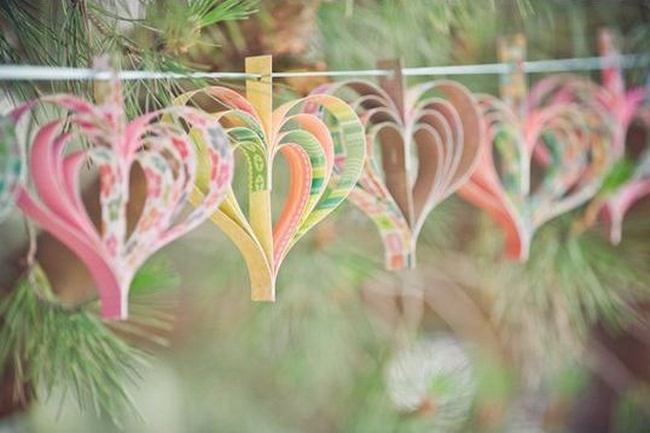 Easy diy wedding decorations on low budget for Outdoor hanging ornaments