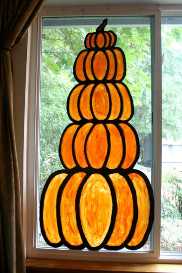Scary diy halloween decorations and crafts ideas 2015 for Autumn window decoration