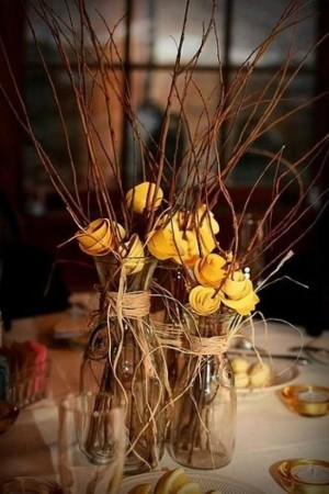 Handmade cheap rustic wedding centerpieces