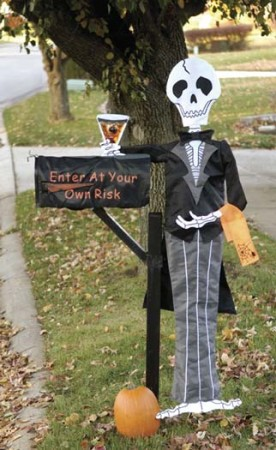 Outdoor DIY Halloween decorations 2015