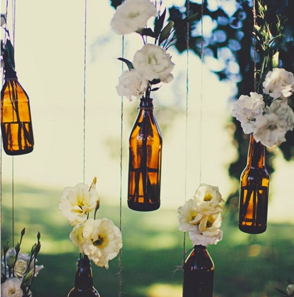 Hanging Bottles For Wedding Decorations