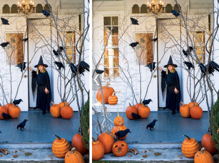 Spooky Halloween Decoration Ideas for Entrance of Home