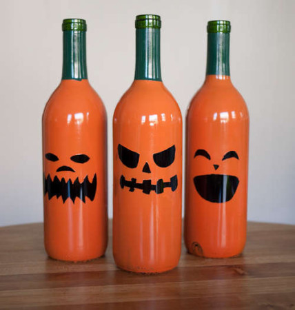 DIY Halloween Bottle Crafts 2015