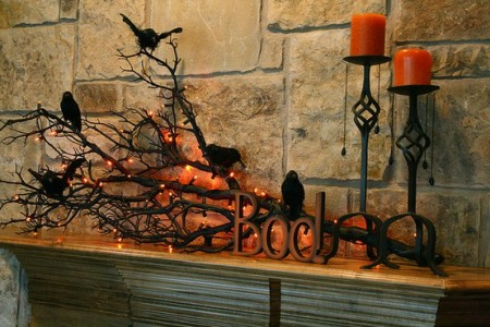 DIY Hallowen Mantle Ideas 2015