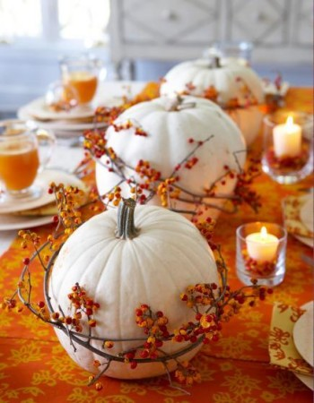 Halloween Party Table Decoration Ideas with Pumpkins