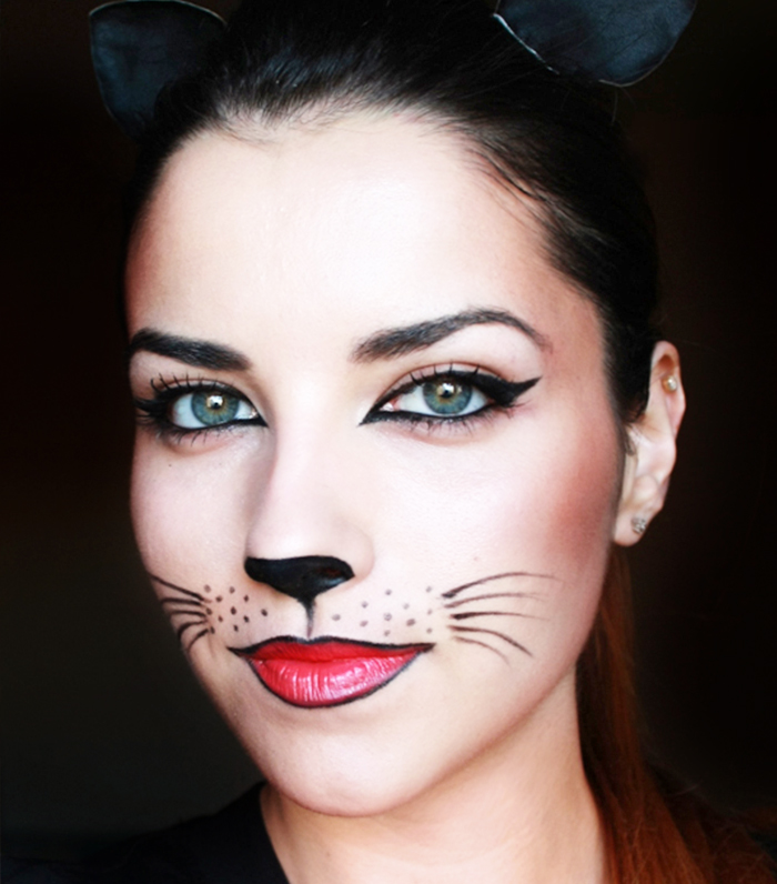 Gallery For gt Halloween Cat Face Makeup Ideas