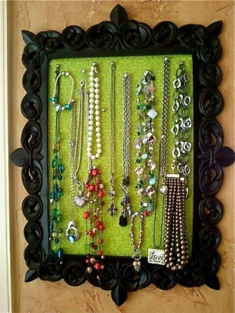 DIY Cork board Jewelry organizer Ideas