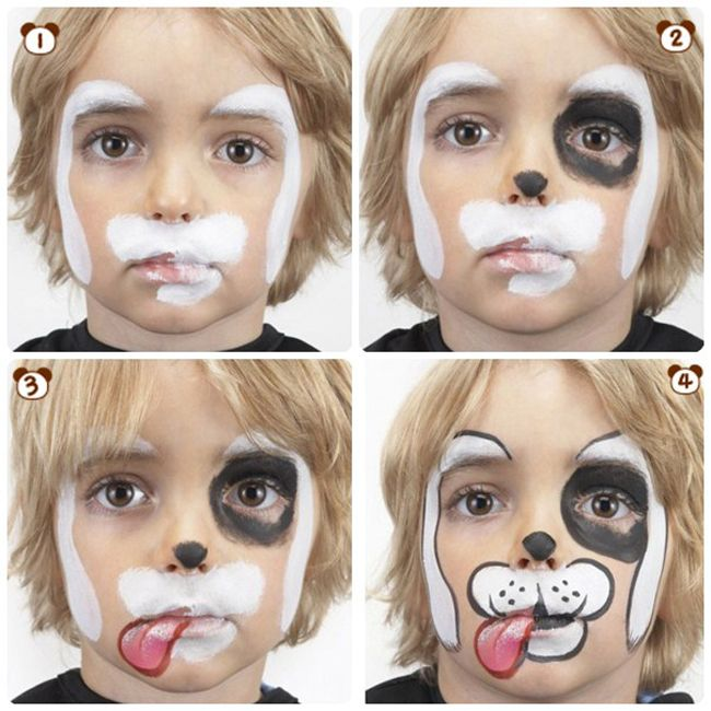 DIY Halloween Face paint designs