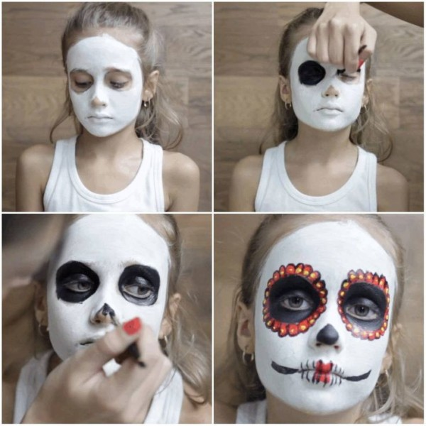 DIY Halloween face painting 2015