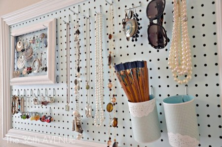 DIY Jewelry storage and organizing Ideas