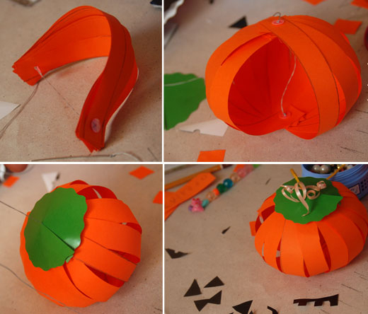 easy halloween decorations tutorials diy paper halloween decorations - How To Make Paper Halloween Decorations