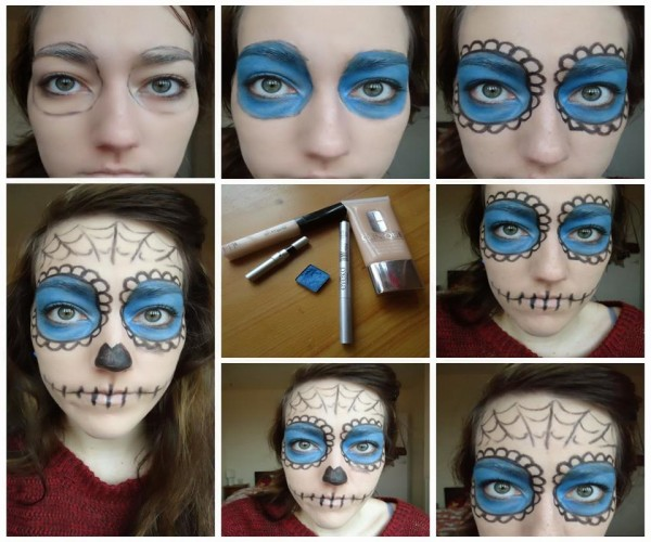 Easy Halloween face paint designs 2015