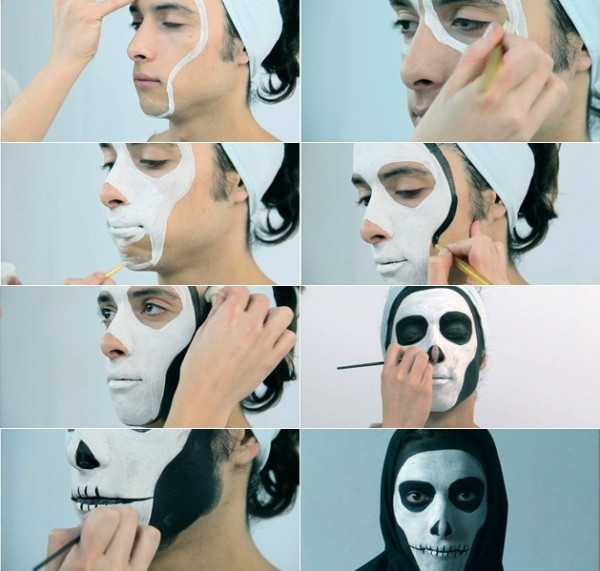 Halloween makeup tutorials step by step