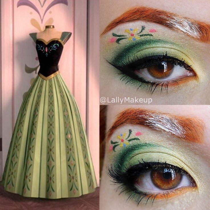 Princess Anna Halloween makeup