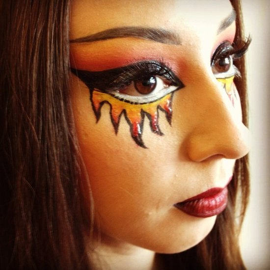 scary diy halloween makeup 2015 devil face paint - Devil Halloween Makeup Ideas