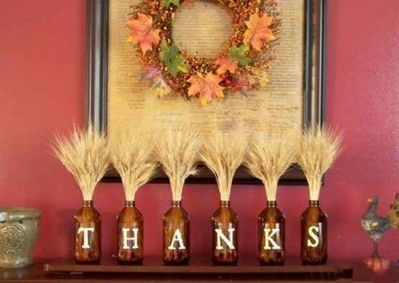 Diy easy thanksgiving crafts projects for adults Fall home decorating ideas diy