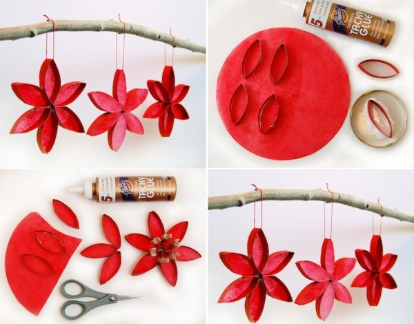 Inexpensive diy christmas ornaments to make at home for Paper christmas decorations to make at home