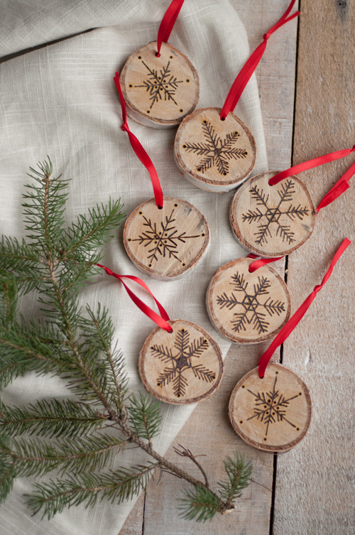 DIY Wood Christmas Ornaments
