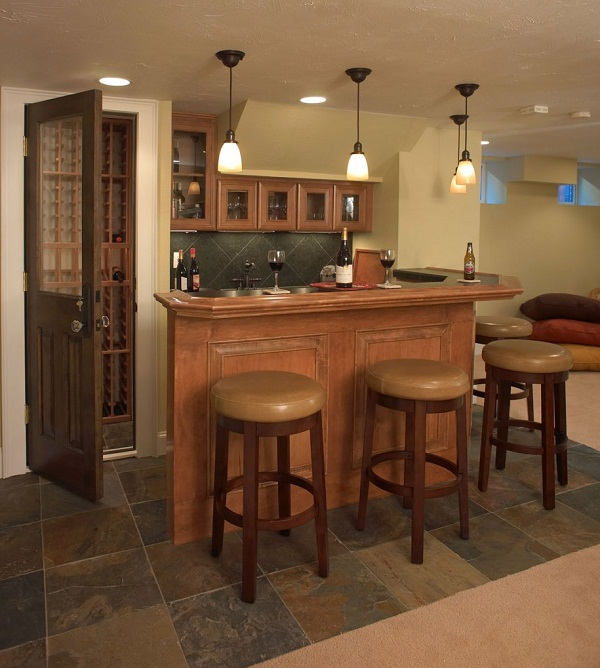 29 Best Small Basement Wet Bar Ideas Images On Pinterest: Basement Decorating Ideas With Modern And Rustic Themes