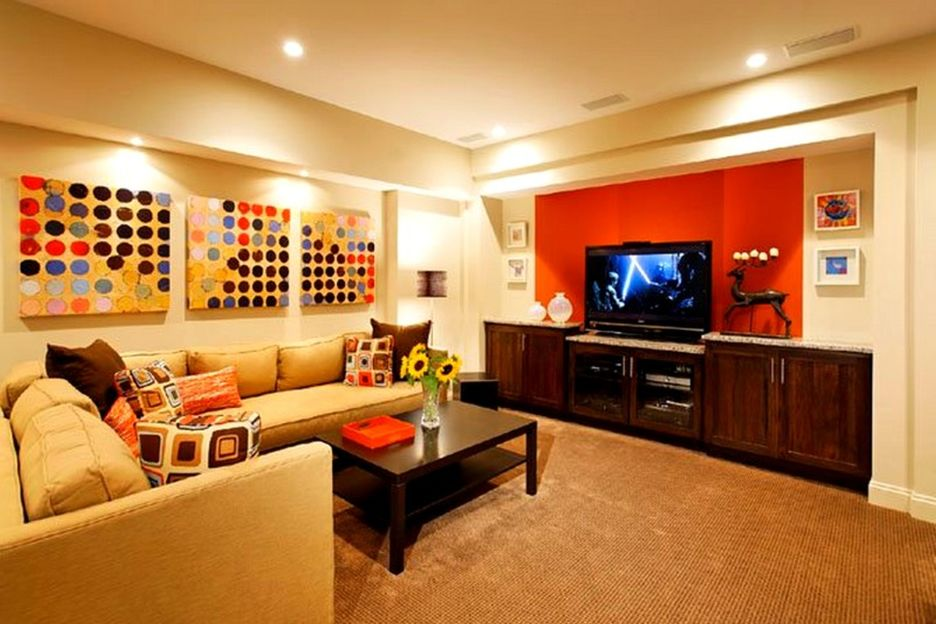 Basement decorating ideas with modern and rustic themes Home decor ideas wall colors