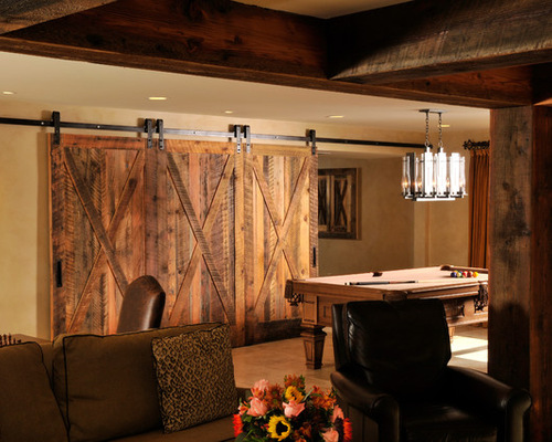 Basement decorating ideas with modern and rustic themes - Rustic basement bar designs ...