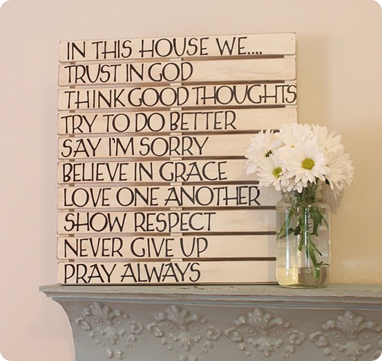 DIY Cheap quotation wall art