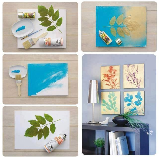 Easy diy projects for home with inexpensive things Diy canvas painting designs