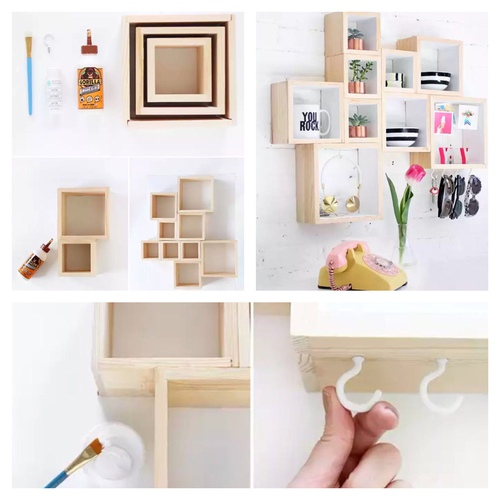 DIY Wooden shelves for rooms