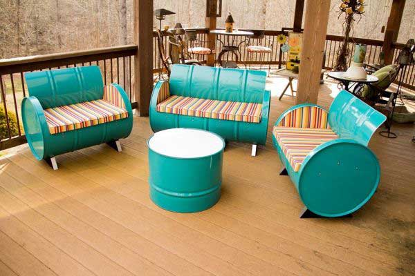 DIY Backyard furniture projects