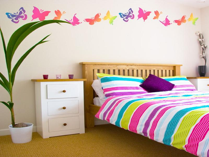 Teenage girls bedroom wall painting DIY