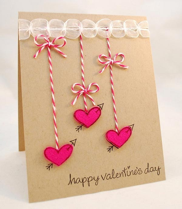 Creative valentine card ideas diy for Designs for valentine cards